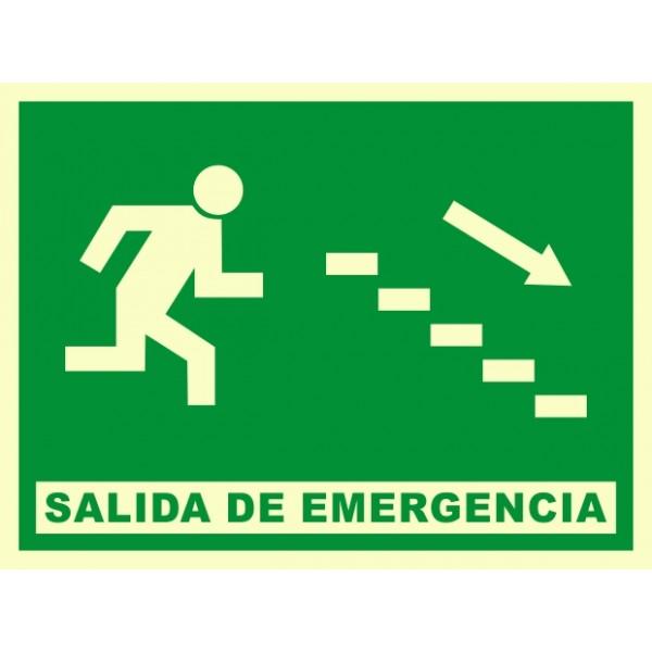 Se al salida de emergencia escaleras abajo a derechas for Escaleras de emergencia