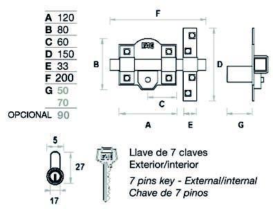 Cerrojo Fac 301L/120