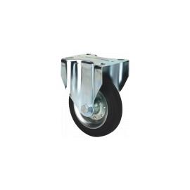 RUEDA BS GOMA NEGRA NATURAL REF.2-0224 Ø80x27mm 80kg ALEX