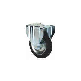 RUEDA BS GOMA NEGRA NATURAL REF.2-0226 Ø100x27mm 110kg ALEX