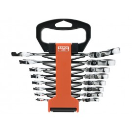 SET OF 8 RATCHED FLEX COMBINATION WRENCHES BAHCO 41RM/SH8 METRIC SIZES