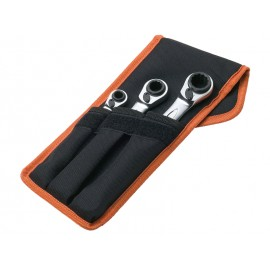 SET OF 3 FOUR SIZES RATCHETING WRENCHES BAHCO S4RM/3T METRIC SIZES