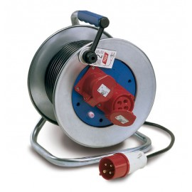 CABLE REEL 25m x1.5mm 2 SOCKETS WITH COVER PHASE 760518