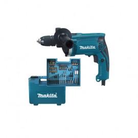 Makita taladro percutor 710 W 13 mm + accesorios HP1631KX3