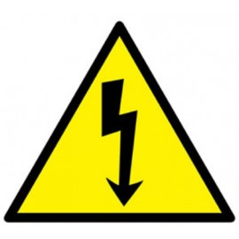 ELECTRICAL RISK SIGNAL ADHESIVE PVC 10 x 10 cm