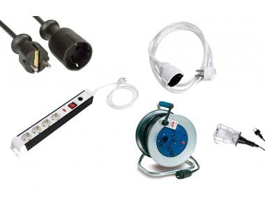 PRODUCTOS DE ELECTRICIDAD, ELECTRICOS, ENCHUFES, ENROLLACABLES