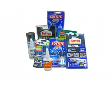 ADHESIVES, REPAIRERS, CONTACT GLUES, HARDWARE, LOCTITE, NURAL, PATTEX