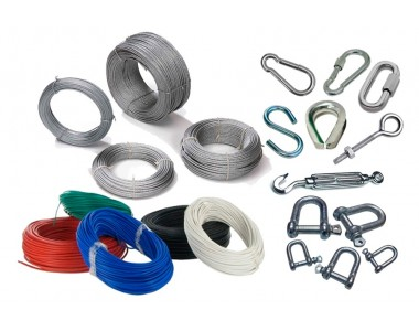 HARDWARE INDUSTRIAL CABLES, ELECTRIC, CABLE TIE, SLINGS, STEEL CABLES